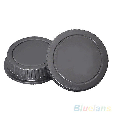 LC_ New Camera Body Cover Case+Back Lens Cover Rear Cap For Canon EOS DSLR Acc