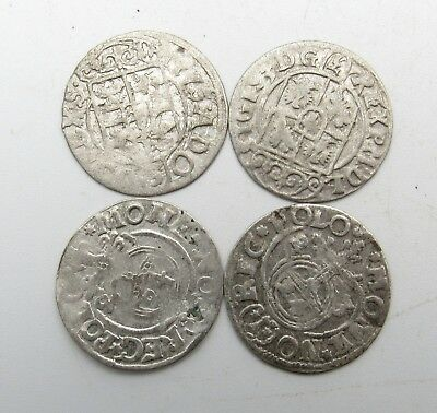 Lot Of 4 Medieval Silver Hammered Coins - Ancient Artifact Stunning - Q890