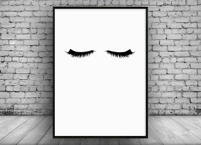 Makeup Model Long Eyelash Beauty Salon Wall Art Stickers Mural Decal Decor GP16