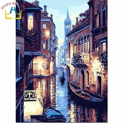 HOME BEAUTY oil paint painting by numbers diy picture drawing coloring on canvas