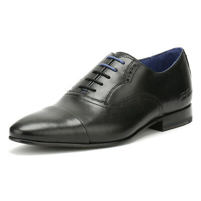 51ddb7bb2aa988 TED BAKER MENS Murain Formal Shoes Black Leather Lace Up Smarts ...