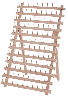 Wooden Thread Rack 120 Pins To Organising All Your Threads Beech Wood by Milward
