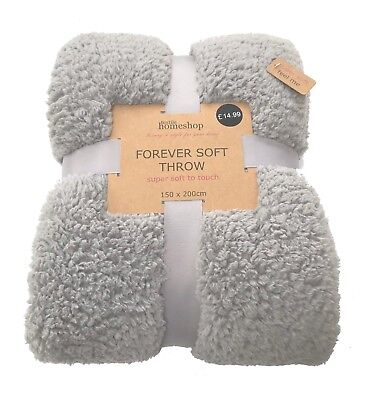 Luxury Supersoft Teddy Throw 4 Colours Now Available  150 X 200Cm