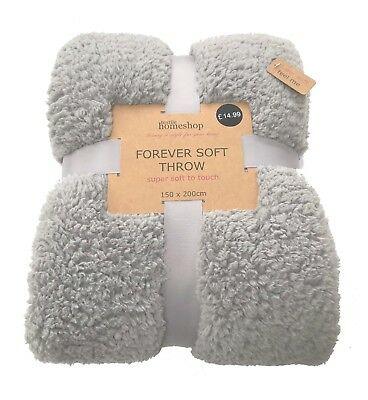 Supersoft Teddy Throw 4 Colours Now Available  150 X 200Cm
