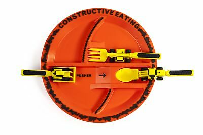 Construction Utensil Set with Construction Plate BPA and Phthalate Free for Kids