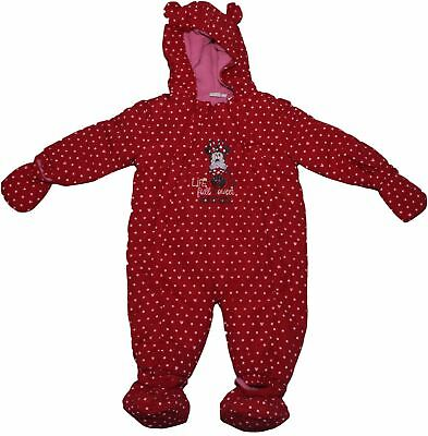 Disney Minnie Mouse Life Suprises Girls Full Winter Baby Jacket Body Suit