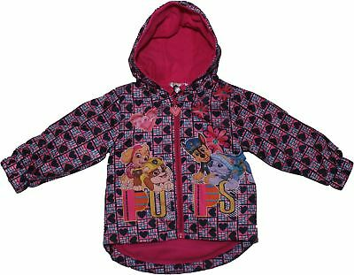 Paw Patrol Puppy Flowers Winter Rain Jacket With Carry Pouch