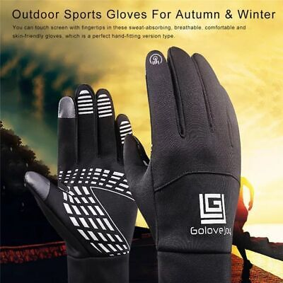 running gloves mens/womens (M) dark grey,touch screen, reflective ,fast delivery