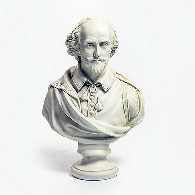 "LARGE William Shakespeare bust 30"" English Museum Sculpture Replica Reproduction"