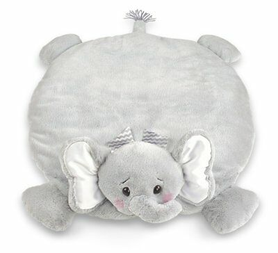 Belly Blanket Baby Little Spout Elephant Tummy Time Mat Grey 30 x 30 Inches Soft