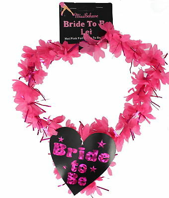 Bride To Be Hot Pink & black Foil Lei With Heart Bride To Be Logo garland
