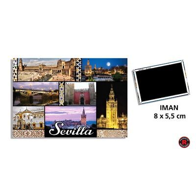 Panoramic of Seville Spain  FRIDGE MAGNET travel tourist SOUVENIR monuments
