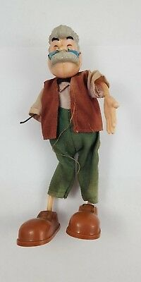 Vintage MARX TOYS Walt Disney Bendy GEPPETTO Action FIGURE from Pinocchio 1940s