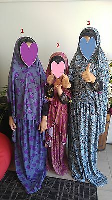 Islamic prayer costumes for girls with long sleeves, different designs لباس صلاة