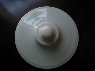 Vintage Fire King Anchor Hocking Large Ivory Lid Only One Chip