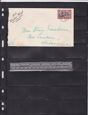 CANADA # 248 on a WINDSOR HOTEL , R.P.O. COVER  TO THE  US