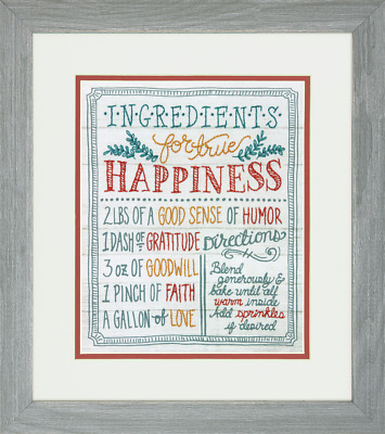 Dimensions - Crewel Embroidery Kit - Ingredients for Happiness - D71-01569