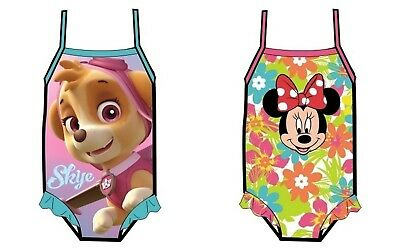 Girls Children Paw Patrol Minne Mouse Swimming Costume Swimsuit age 1,5-5 years
