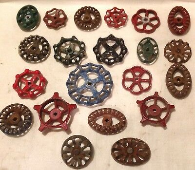 21 Vintage Valve Handles Water Faucet Knobs STEAMPUNK Industrial Twenty One