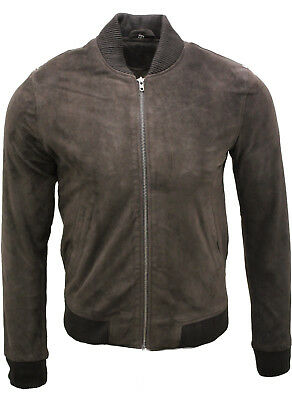 709cfc204 COACH MEN'S SOFT Goat Suede Leather Bomber Aviator Jacket Brown ...