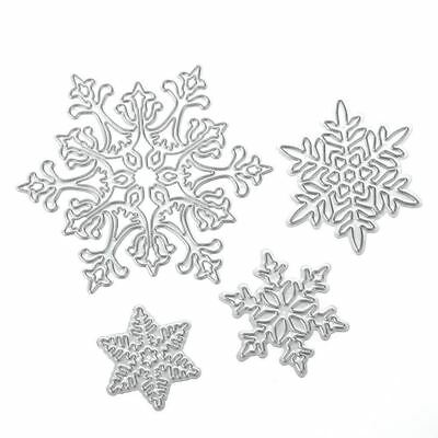4pcs Snowflake Cutting Dies Stencils for DIY Scrapbooking photo album Decorative