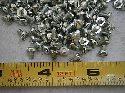 Machine Screws 4/48 x 3/16 Slotted Pan Head Steel Zinc Plated Lot of 50 #1131