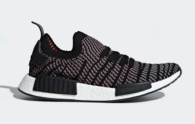best service bf20e 78fcf ADIDAS MEN'S NMD_R1 STLT Primeknit Running Shoes Core Black/Grey CQ2386 c