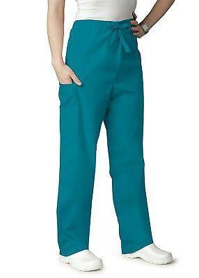 Adar Universal Unisex Natural-Rise Drawstring Tapered Leg Scrub Pants