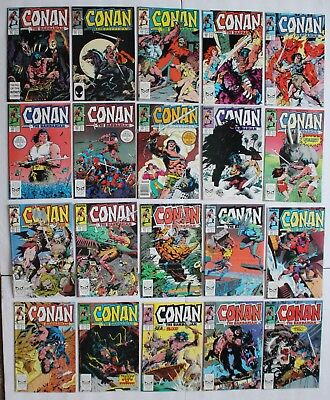 CONAN the BARBARIAN (Marvel Comics; 1st Series;1970-1993; REH) #201-220 FN/VF
