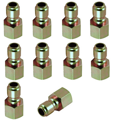 "Pressure Washer Hose Quick Coupler Plug 1/4"" FPT - 10 Pack"
