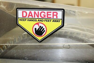 Lawn Mower - Blade - Danger Warning Decal Sticker . Keep Hands and Feet Away