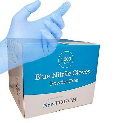 Strong Disposable Blue Nitrile Gloves Latex Free  High Quality Powder Free