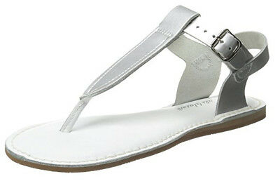 Salt Water Sandals By Hoy Shoe Girls Thong Sandal Silver Toddler Size 10 M US