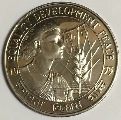 1975 India 10 Rupees Coin F.A.O. Women's Year BU/UNC Low Mintage 49,000 (L483)