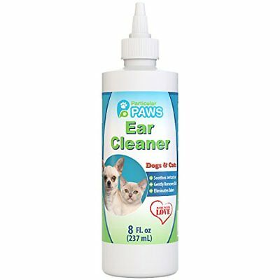 Ear Cleaner for Dogs and Cats with Aloe Vera, Tea Tree Oil & Vitamin E - 8oz