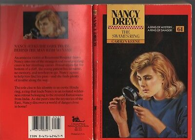 Nancy Drew #61 THE SWAMI'S RING Carolyn Keene 1989 First Minstrel Edition VG-VG+