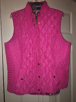 Lilly Pulitzer Blake Vest Tropical Pink - Size Xl