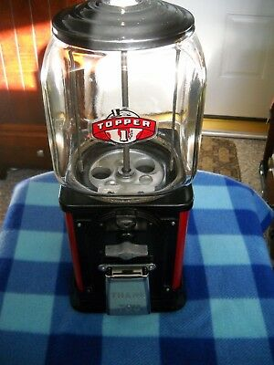 Vintage Victor Topper 1 Cent Gumball Vending Machine Restored