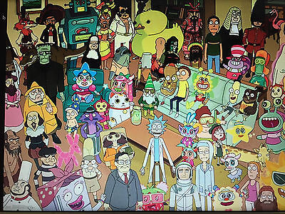 Rick And Morty Group 24X36 Poster Animation Tv Series Sitcom Funny Cartoon Adult