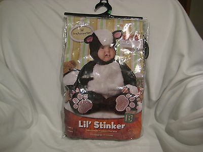 NEW Black Baby Lil' Stinker Skunk Costume For Ages 6 Months By InCharacter