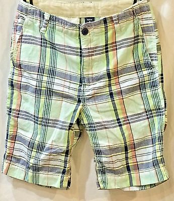 Gap Kids Plaid Chino Shorts Boys 12