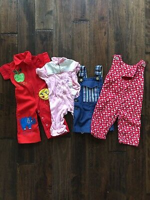 Vintage Lot Baby One Pieces/Overalls - Handmade