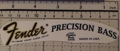 Fender Precision Bass Decal Headstock Waterslide Logo