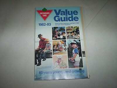 "Canadian Tire 1982-83 Value Guide Catalog Catalogue ""60 Years Young"""