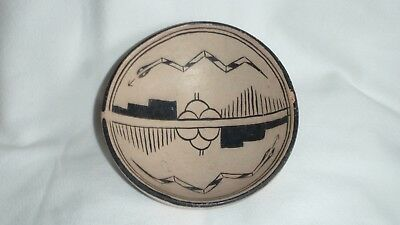 Cochiti Pottery Bowl W/ Snakes  Early Piece  Unsigned  Estate Find