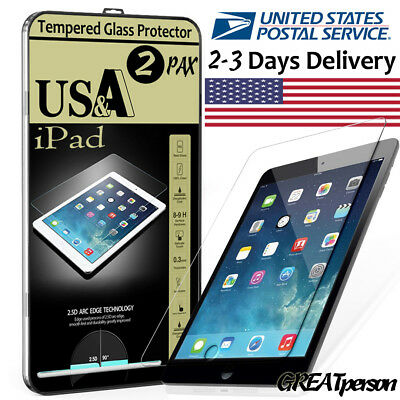 2x Tempered Glass Screen Protector For iPad A1822 Mini Air 2 3 4 Pro 9.7 10.5 5