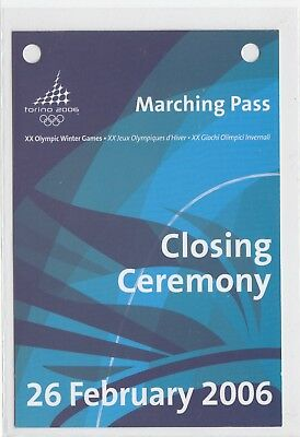 Marching Pass, Closing Ceremony, XX Olympic Winter Games Torino 2006