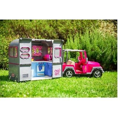 our generation rv camper van trailer caravan dolls house picclick uk. Black Bedroom Furniture Sets. Home Design Ideas