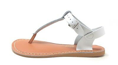 Salt Water Girls  Style 203 T Thong Slingback Sandal White Youth Size 2 M