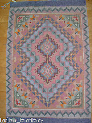 """Navajo Rug Important Burnt Water Pattern c.1980 27"""" x 41 1/2"""" one-side fade"""